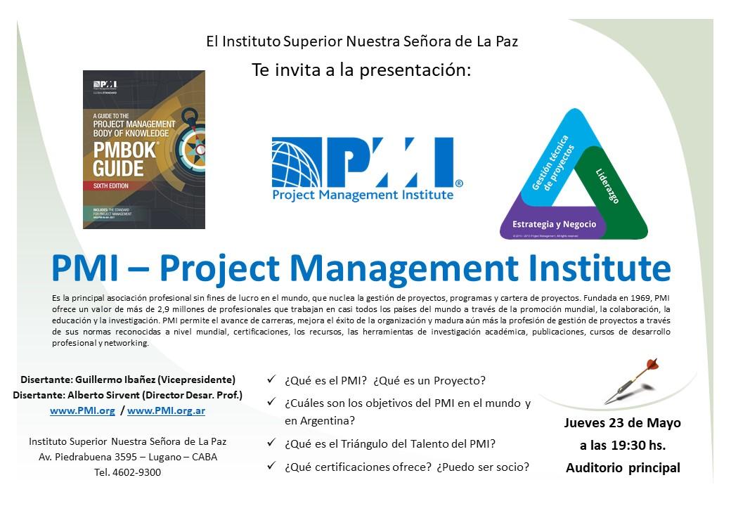 Afiche evento La Paz - PMI
