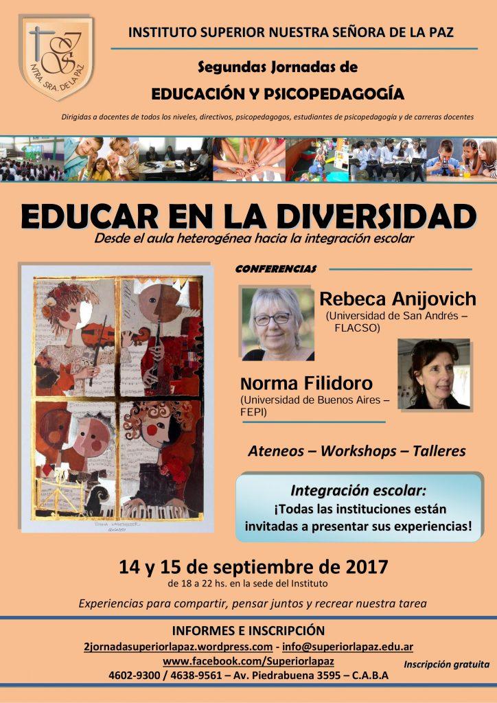 Segundas Jornadas_Educar en la diversidad_ISNSLP_2017
